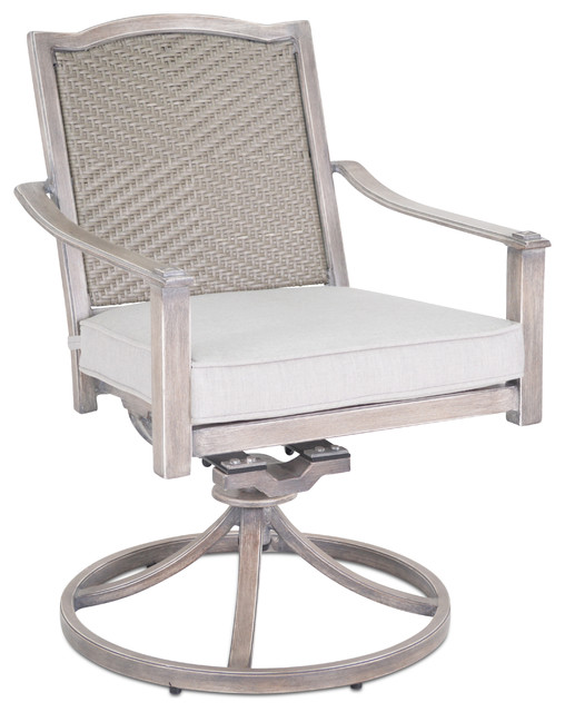 swivel rocker outdoor dining chairs white folding chair covers ebay plank hide co pelham in brushed latte