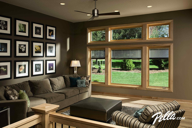 Pella Designer Series casement and fixed windows  Traditional  Living Room  Cedar Rapids