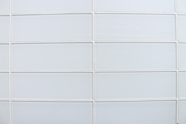 snow white 4x12 glass subway tile sample