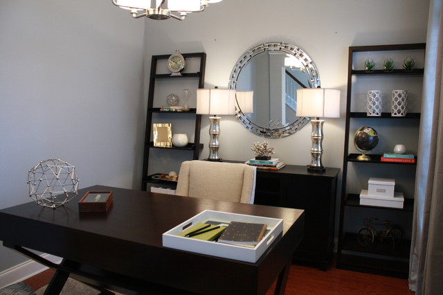 An Affordable Facelift transitional-home-office