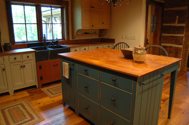 kitchen cabinets louisville country valances central kentucky log cabin primitive - eclectic ...