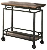 Wood Metal Bar Cart | Zef Jam