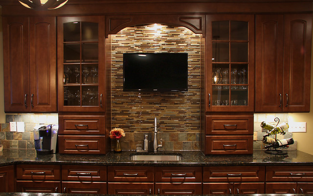 Basement Wet Bar  Traditional  Basement  DC Metro  by NVS Kitchen and Bath