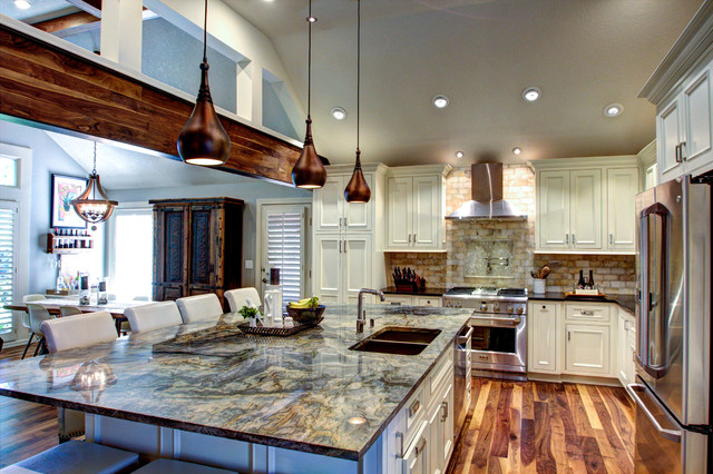 Rustic Elegant Kitchen & Hearth Space Rustic Kitchen Kansas