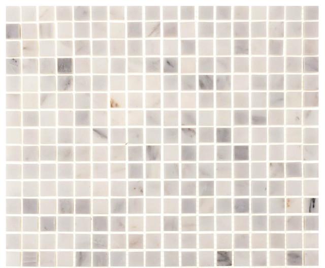 "12""x12"" Aspen White Marble Square Tile"