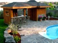 Pool Cabana and Bar Area - Traditional - Pool - Toronto ...