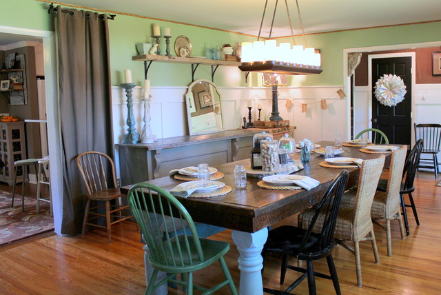 My Houzz Vintage Farmhouse Style  Farmhouse  Dining