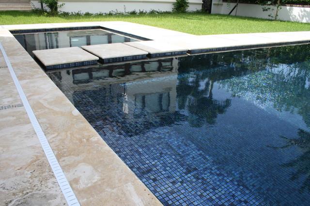 iridescent black glass tile modern