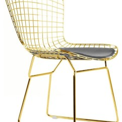 Gold Dining Chairs Outdoor Chair And Ottoman Sets Wire Rose Contemporary By Modern Selections