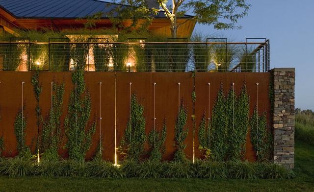 Corten steel wall  Modern  Landscape  Burlington  by