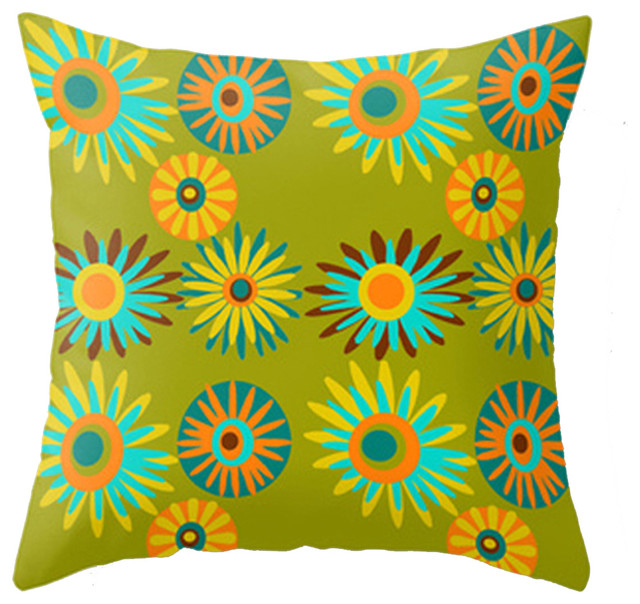 Modern Midcentury Inspired Accent Pillow  Midcentury