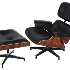 Leather Chair Modern High And Cart Cover Eaze Lounge Ottoman Armchairs Accent Chairs By Black Palisander Wood