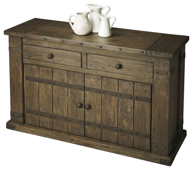 Console Cabinet  Rustic  Accent Chests And Cabinets