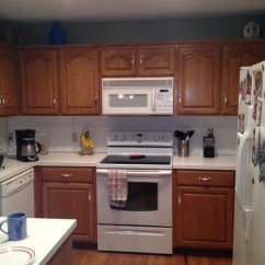 Changing Countertops In Kitchen Runner Rugs Gel Stain Oak Cabinets? Does It Look Painted? Trim ...