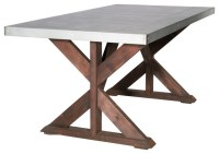 Zinc Simply Elegant Table - Industrial - Dining Tables ...