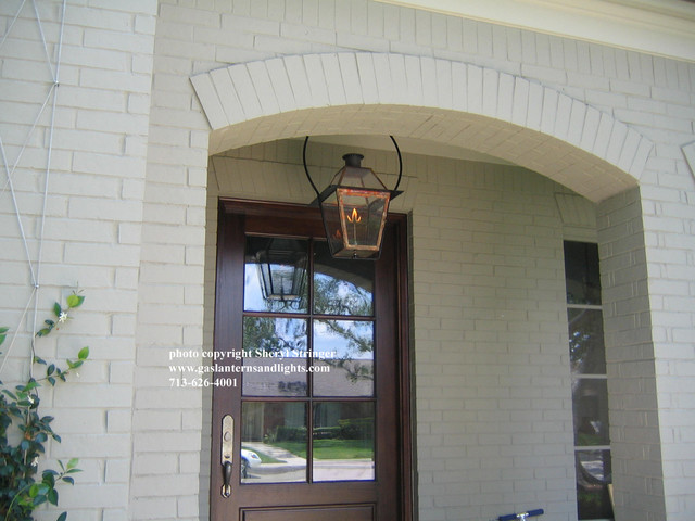 Sheryls New Orleans Style Gas Lantern with Glass Top