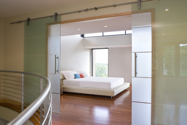 glass bedroom door | houzz