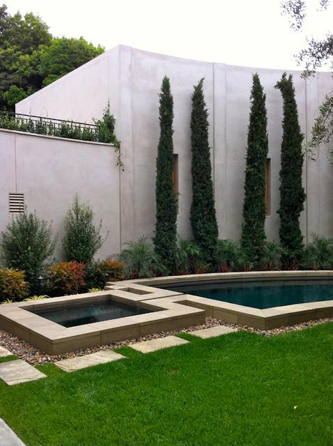 Contemporary La Jolla  landscape architecture courtyard
