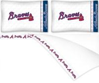 MLB Atlanta Braves Baseball Queen Bedding Sheet Set ...