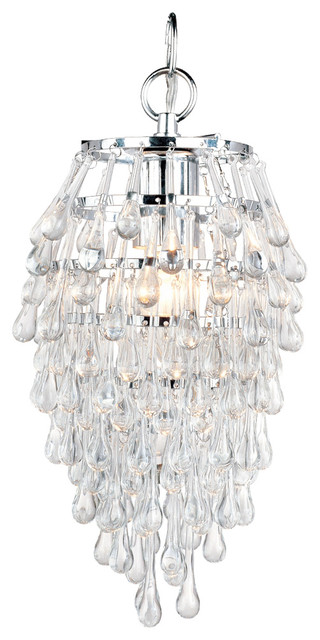 Af Lighting 4950 1h Elements Crystal Teardrop Mini Chandelier Chandeliers