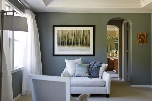 Sitting Area  Contemporary  Bedroom  Los Angeles