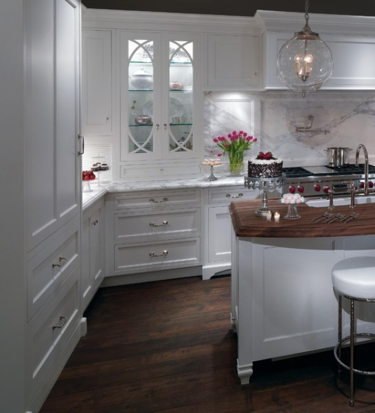 plain and fancy kitchen cabinets A Romantic Contemporary Kitchen Getaway - Traditional