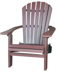 Recycled Adirondack Chair in Dark Red