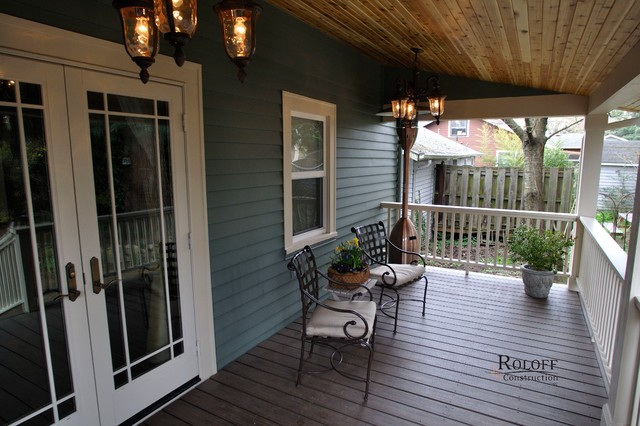 Sellwood Garage And Back Porch Craftsman Porch