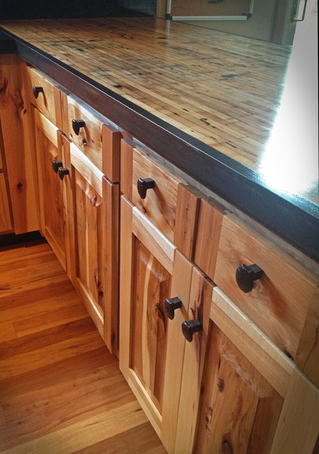 Kitchen reface Hickoryboxcar countertops  Rustic
