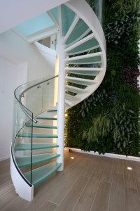 Amsterdam Apartment - Glass spiral staircase ...