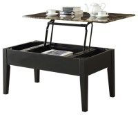 Acme Celestial Faux Marble Lift Top Coffee Table, Black ...