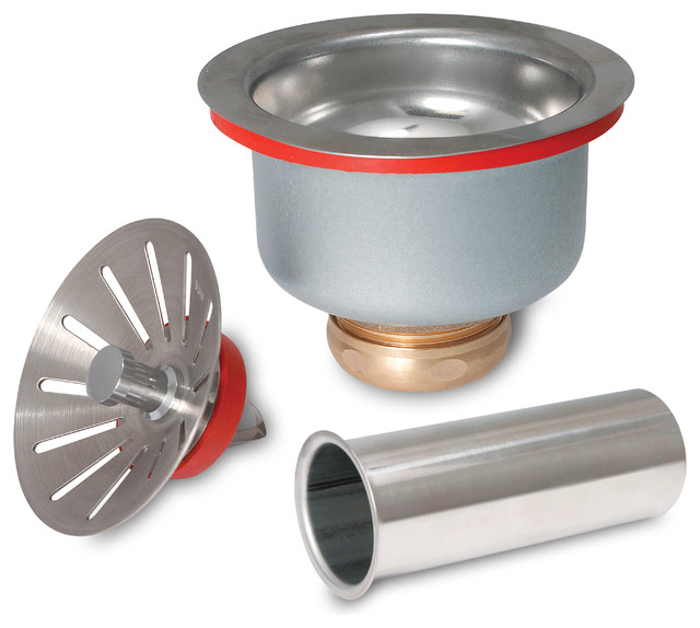 keeney 1436sst commercial deep cup sink strainer stainless steel