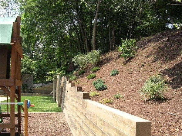 retaining walls - contemporary
