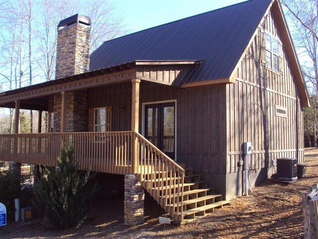Little River Cabin  Traditional  Exterior  Atlanta  by Max Fulbright Designs