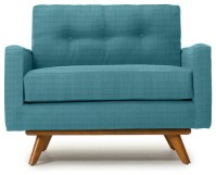 Fillmore Mid Century Modern Chair - Lucky Turquoise Blue ...