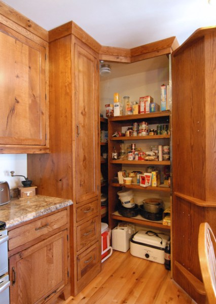 corner kitchen pantry cabinet corner pantry - Traditional - Kitchen - by Crossroads