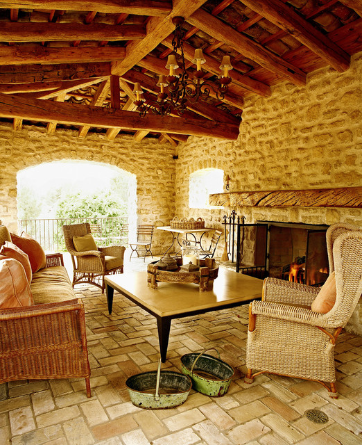 Outdoor Loggia Rustic Patio Phoenix By Don Ziebell
