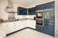 Modern Blue and White Acrylic Kitchen - Modern - Kitchen ...