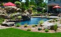 Pool/Spa built into hillside - Rustic - Swimming Pool ...