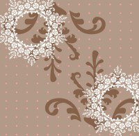 Wild Floral Wreaths Wall Mural - Contemporary - Wallpaper