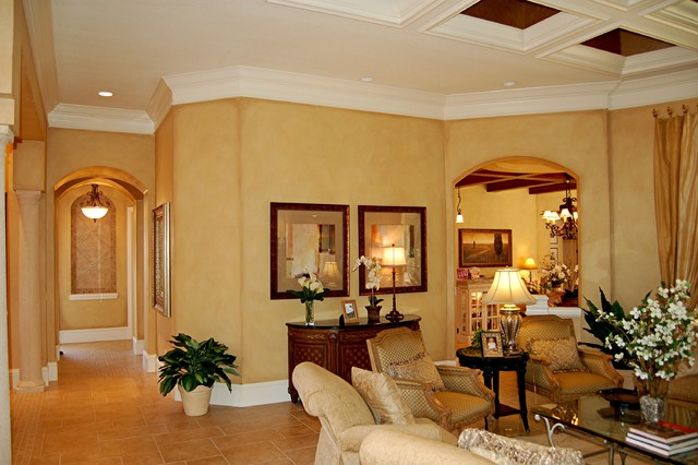 faux finish mediterranean living room