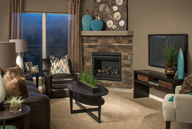 Model Homes  Contemporary  Living Room  Omaha  by D3