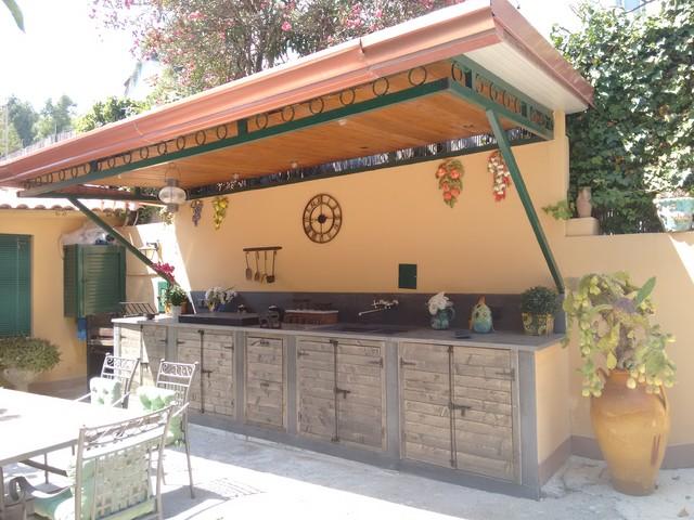 Cucina rustica esterna