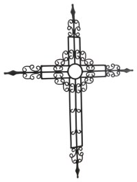 Decorative Metal Scroll Cast Iron Look Wall Cross ...