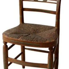 Rush Seat Chairs Leather Strap Chair Consigned Antique Stenciled Farmhouse Dining By 86 Vintage