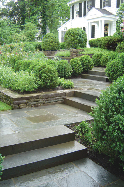 low lawn chairs purple reading chair bluestone entry walkway - traditional landscape new york by the todd group