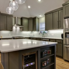 Stainless Steel Kitchen Cabinets Manufacturers Modern White Gloss Mossridge - Contemporary Dallas By New Leaf ...