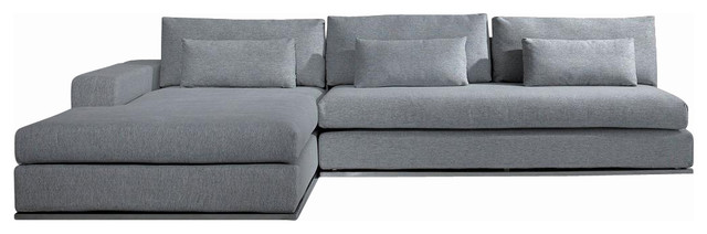 microfiber fabric sectional sofa gray