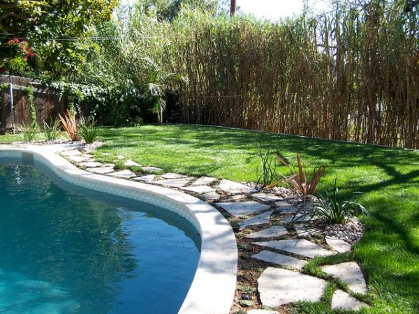 pool patio conversion - backyard