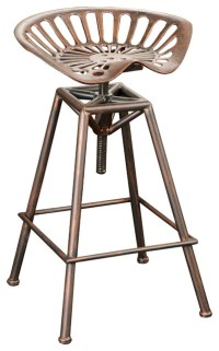 Charlie Tractor Seat Bar Stool - Industrial - Bar Stools ...